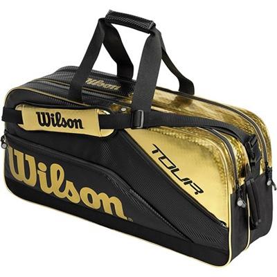 ウイルソン(Wilson) ツアー・レクタングルII ブラック/ゴールド WRR613000 【テニス用品 バッグ ジュニアラケットバッグ 遠征バッグ ウィルソン】の画像