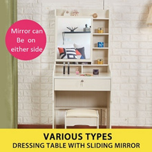 [LOCAL SELLER] Sliding Mirror / Dressing / Makeup Table + 1 Chair! FREE SHIPPING! Cosmetic/Storage