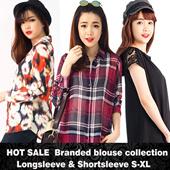 HOT SALE - more thn 15 model-Women print blouse-pakaian wanita best seller