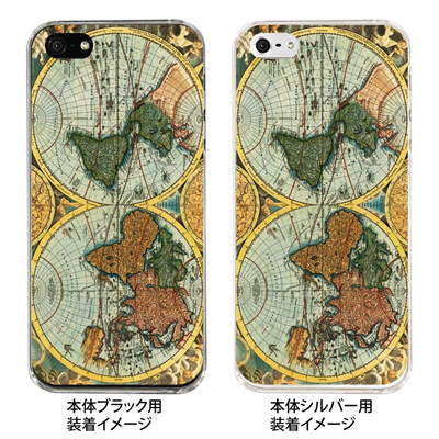 【iPhone5S】【iPhone5】【Clear Arts】【iPhone5ケース】【カバー】【スマホケース】【クリアケース】【古代世界地図】 08-ip5-ca0061の画像