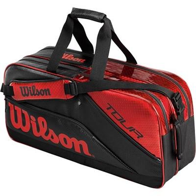 ウイルソン(Wilson) ツアー・レクタングルII ブラック/レッド WRR613100 【テニス用品 バッグ ジュニアラケットバッグ 遠征バッグ ウィルソン】の画像