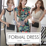 Premium OL Dress [ S - XL ] Glamour Series~ Work Dress~ Midi Dress~ Formal Dress~