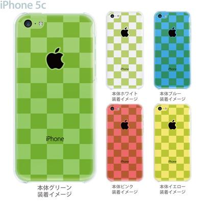 【iPhone5c】【iPhone5cケース】【iPhone5cカバー】【ケース】【カバー】【スマホケース】【クリアケース】【チェック・ボーダー・ドット】【ボックス・グリーン】 06-ip5c-ca0145の画像