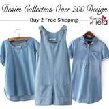 【BUY 3 FREE SHIPPING】2015 Denim Collection Ladies Jeans Dress Denim Dress Denim Blouse Denim Jacket Denim Short Denim Skirt