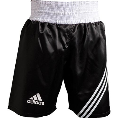 アディダス(adidas) MULTI BOXING SHORT L ADISMB02-BW-L ブラック/ホワイト L 【ボクシング ウェア パンツ 格闘技】の画像