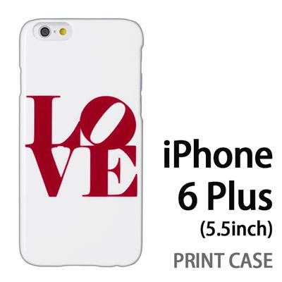 iPhone6 Plus (5.5インチ) 用『0621 love レッド』特殊印刷ケース【 iphone6 plus iphone アイフォン アイフォン6 プラス au docomo softbank Apple ケース プリント カバー スマホケース スマホカバー 】の画像
