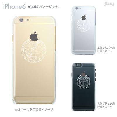 iPhone6 4.7 inch iphone ハードケース Clear Arts ケース カバー スマホケース クリアケース かわいい おしゃれ 着せ替え イラスト 地球 10-ip6-ca0008の画像