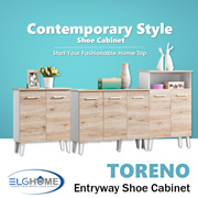 TORENO Multifunction Shoes Cabinet/Modern Wood Shoe Organizer/Household Furniture/Shoe Compartment/S