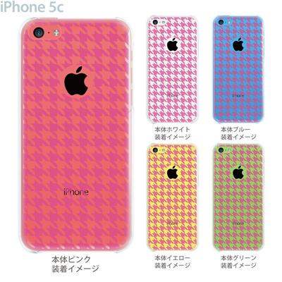 【iPhone5c】【iPhone5c ケース】【iPhone5c カバー】【ケース】【カバー】【スマホケース】【クリアケース】【チェック・ボーダー・ドット】【千鳥格子】 21-ip5c-ca0019の画像