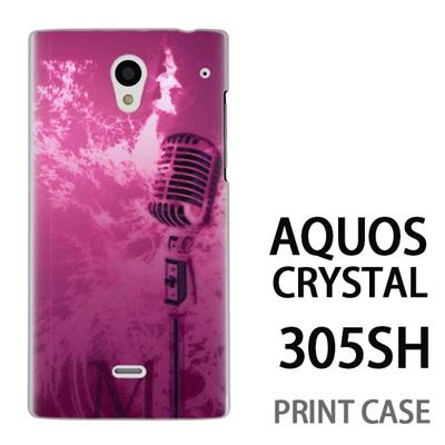 AQUOS CRYSTAL 305SH 用『No1 M マイク ピンク』特殊印刷ケース【 aquos crystal 305sh アクオス クリスタル アクオスクリスタル softbank ケース プリント カバー スマホケース スマホカバー 】の画像