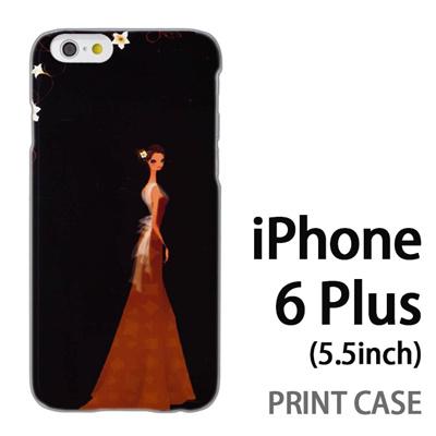 iPhone6 Plus (5.5インチ) 用『0621 ブラウンドレス』特殊印刷ケース【 iphone6 plus iphone アイフォン アイフォン6 プラス au docomo softbank Apple ケース プリント カバー スマホケース スマホカバー 】の画像
