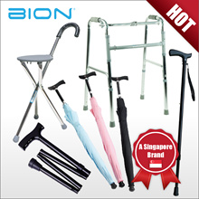 BION Walking Stick | with Seat | with Umbrella | Foldable | Foldable Walking Frame