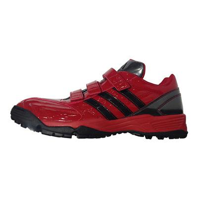 アディダス (adidas) adipure トレーナー(パワーレッド×コアブラック×ナイトメット) Q16945 [分類:野球 トレーニングシューズ] 送料無料の画像