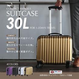 スーツケース ビジネスキャリーケース 軽量ポリカーボン製 機内持込み可能 4輪キャスター キャリーバッグ TSAロック搭載【送料無料】###ケースC-003☆###