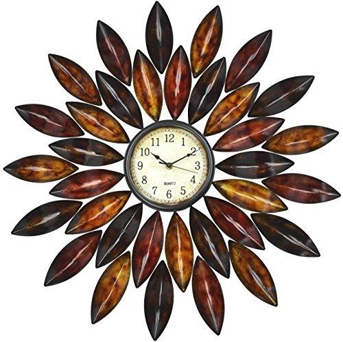 Lulu Decor Black Drop Wall Clock : Qoo lulu decor red daisy wall clock furniture deco