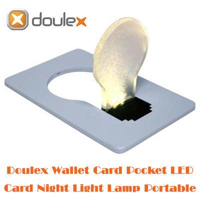 【送料無料】薄さ約3mmの便利なカードサイズでモダンなデザインの電球型ポケットLEDライトWallet nite lite(ウォレット ナイトライト)カラー入荷!(色不問)の画像