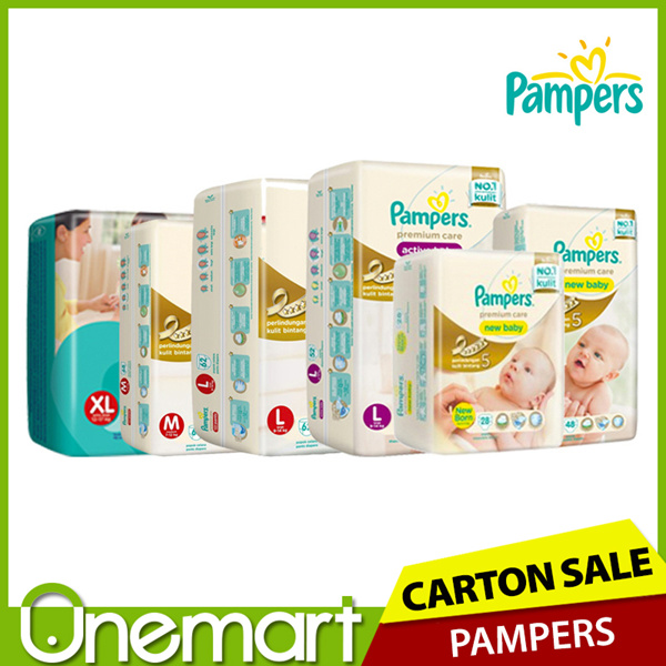 [PAMPERS] Active Baby / Premium Care Diapers Deals for only S$72.9 instead of S$0