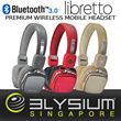 Best Review Elysium Libretto -[RESTOCKED] Hi-Fi Quality Bluetooth V3.0+EDR Stereo Headset Wireless Dis Up to 12M. Built-in AUX Input w Battery /Built In Mic.1 Yr Local Warranty!