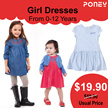 PONEY Promotion ~ Girl Dresses ● Casual ● Kids Wear   Fashion ● From 0-12 Years