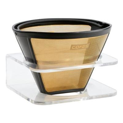 [P]コレスコーヒーフィルターゴールドフィルター1−10カップ用C280