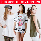 11 STYLISH SHORT SLEEVE TOPS [KOREA DIRECT] ► FAST SHIPPING ◄ ✔ BEST PRICE ☚ Tee shirts T short sleeve women casual blouse dress couple white slim loose fit pocket sweater knit boxy shoulder