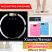 ◇Xiaomi/Remax weighing scale Body Fat Analyzer scale  digital accurate weighting scale/weight Hydration Fat Bone and Muscle Analyzer weighting machine BMI pedometer/body weight scale