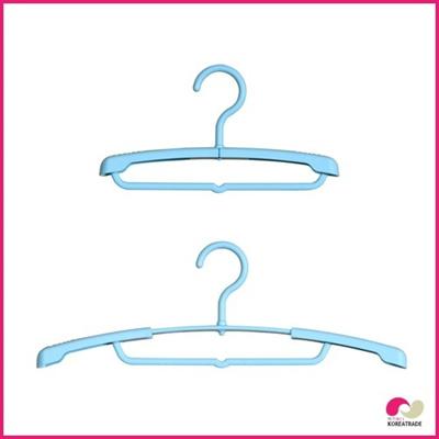 【日用品】 スライド子供ハンガー(Slide Little Hanger)3本組3セットブルーの画像