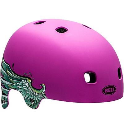 ベル(BELL) ヘルメット SEGMENT / セグメント Jr KIDS&YOUTH マットパープルウイングス 【自転車 サイクル キッズ 安全 子供】の画像