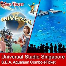 COMBO USS + S.E.A. Aquarium / Universal Studio Singapore / SEA / ETICKET / Open Date / Sentosa