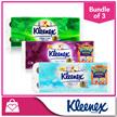 [1+1+1] [NEW IMPROVED!]  Kleenex Clean Care Bathroom Ultra Soft 3Ply-Aloe Vera/Fresh Scent/Green Tea