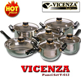 [Best Price] Vicenza Panci Set V-612 (Vicenza Stainless Cookware)