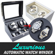 [High quality] Elegant and Luxurious Watch Winder [2+3 Single Motor / 4+6 Dual]. automatic watch winder