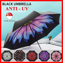 LOCAL SELLER ★ Flower Umbrella Waterproof Wind Resistance 99% Anti-UV Blocker