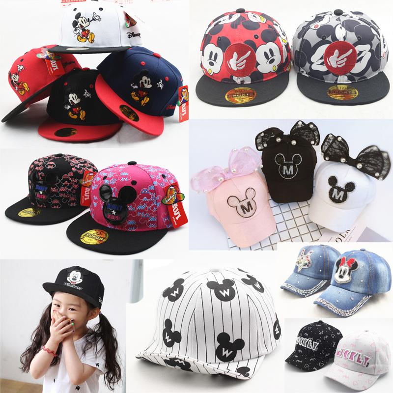 ミッキー 帽子 キャップ 韓国 Mickey帽子 子供は帽子 韓国ファッション2017最新子供サイズ 野球帽ミニオンズ 子供 帽子 キャップ CAP 帽子 サンバイザー  メンズ帽子 キッズ キャップ