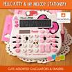 Hello Kitty Calculator Eraser stationary / my melody