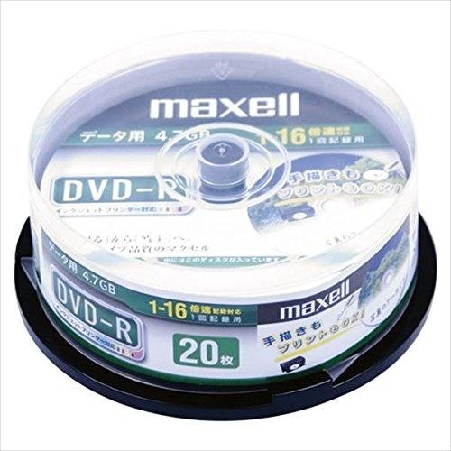 【クリックで詳細表示】maxell:PCDATA用DVD-R1回記録タイプ1-16倍速対応20枚DR47DWP20SP21429