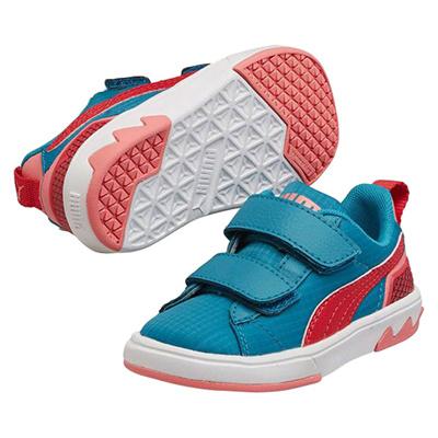プーマ (PUMA) キッズ フューチャースウェード Lite 2.0 ナイロン V(カプリブリーズ×ゼラニウム) 358584-02 [分類:キッズ・子供靴 スニーカー]の画像