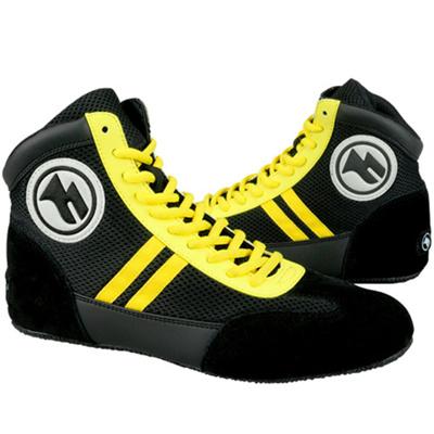 マーシャルワールド(MARTIALWORLD)ボクシングシューズ・23.0cm・黒BXS1-230-BK【ボクシング靴】