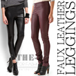 FAUX LEATHER TROUSERS | by MNG | BRANDED SALE | BOTTOM | THE-FAHRENHEIT | 100% AUTHENTIC