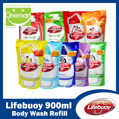 qoo10 lifebuoy 900ml body wash refill total 10cool