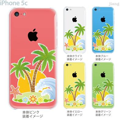 【iPhone5c】【iPhone5cケース】【iPhone5cカバー】【iPhone ケース】【クリア カバー】【スマホケース】【クリアケース】【イラスト】【クリアーアーツ】【南の島】 21-ip5c-ca0054の画像