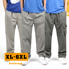 ☆(XL-6XL) BIG SIZE ◆Casual Cargo Style Pants for Men◆PLUS SIZE LOOSE FIT TROUSERS/ WORKING PANTS/ TRAVEL PANTS/ 3 models