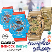 *CASIO GENUINE* CASIO G-SHOCK / BABY-G COUPLE WATCHES! BA GA GMDS GD BGA Free Reg. Shipping 1 Year Warranty and Free Gift Box! Perfect for Valentines Day!