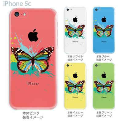 【iPhone5c】【iPhone5c ケース】【iPhone5c カバー】【ケース】【カバー】【スマホケース】【クリアケース】【フラワー】【蝶】 06-ip5cp-ca0088の画像