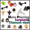 ★UNISEX Piercing/Allergy FREE/Surgical Steel/Titanium/Earstuds/Korean/Entertainment/BIGBANG/Ring Earrings/Accessories/Men/Women/Girl/Boy