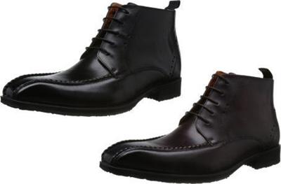 (A倉庫)madras MODELLO SPDM304 メンズブーツ ロングノーズ スワールモカレースアップブーツ ビジネス ブーツの画像
