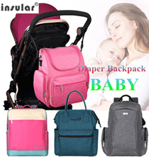 INSULAR® Baby Diaper Backpacks Multifunctional Changing Bags large capacity Crossbody mummy bag