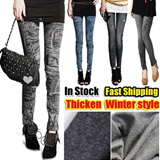 SG Delivery!【 Limit 100 Set Only】 Winter Leggings Jeans Hole Pleated Prints Casual Leggings 7 design Hot Promotion 2014 new Fashion Leggings for Women Polyester Spandex