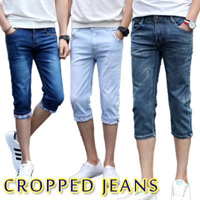 男性 ジーンズ 7分丈ジーンズ メンズパンツ  スリムカジュアルパンツ  新品 メンズジーンズ 薄クロップドジーンズ MK1707