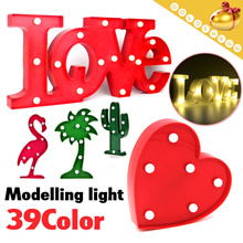 ▶LED Decoration Night Light◀ Festival/Event/Party/Gift/Romantic Decoration/Battery/39 Designs